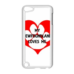 My Newfie Loves Me Apple iPod Touch 5 Case (White)