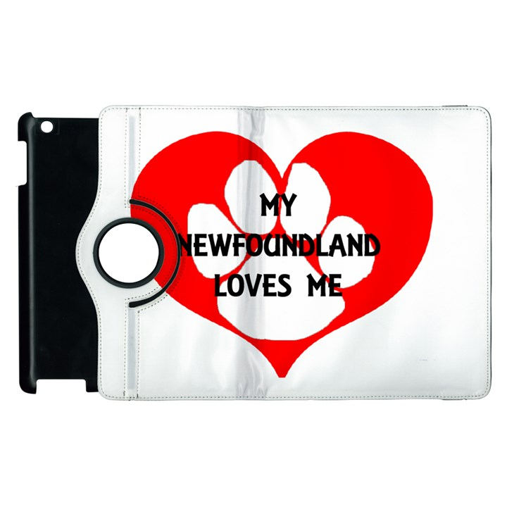 My Newfie Loves Me Apple iPad 2 Flip 360 Case