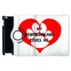 My Newfie Loves Me Apple iPad 3/4 Flip 360 Case