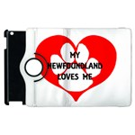 My Newfie Loves Me Apple iPad 3/4 Flip 360 Case Front