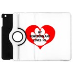 My Newfie Loves Me Apple iPad Mini Flip 360 Case Front