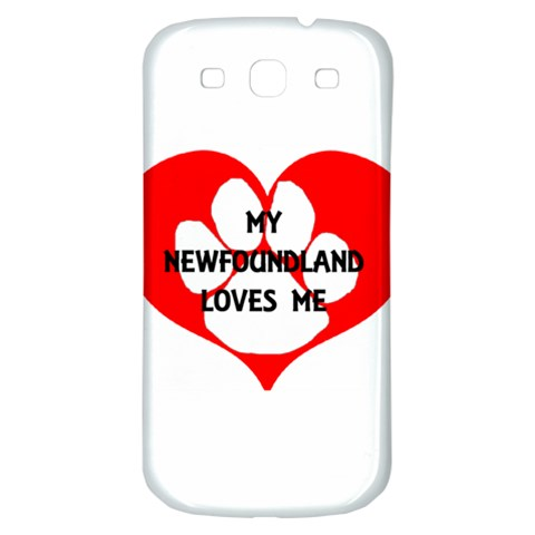 My Newfie Loves Me Samsung Galaxy S3 S III Classic Hardshell Back Case