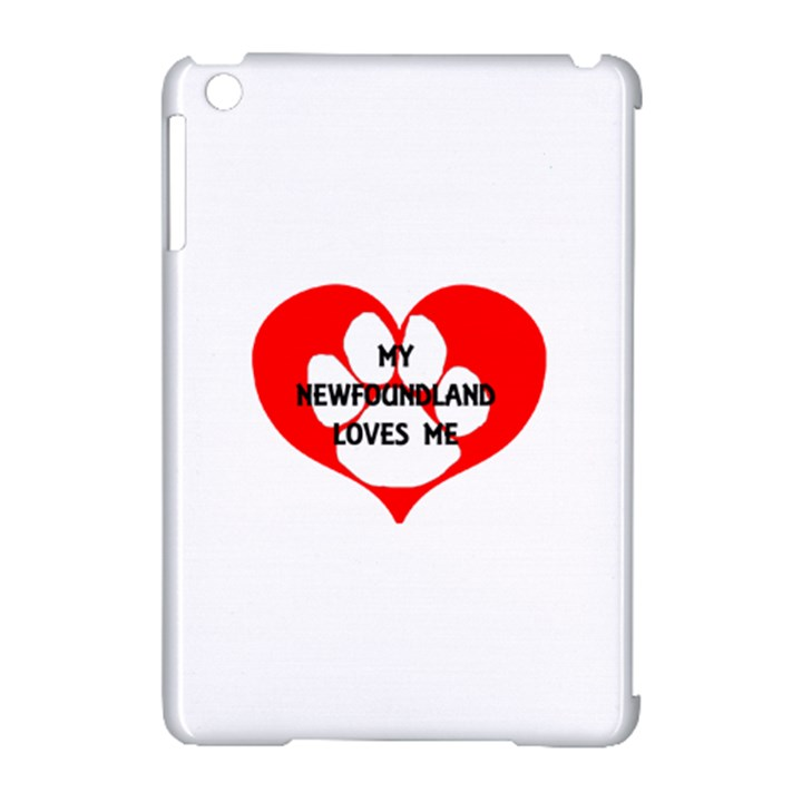 My Newfie Loves Me Apple iPad Mini Hardshell Case (Compatible with Smart Cover)