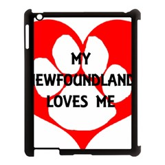 My Newfie Loves Me Apple iPad 3/4 Case (Black)