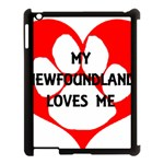 My Newfie Loves Me Apple iPad 3/4 Case (Black) Front