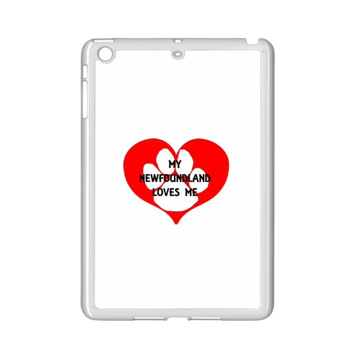 My Newfie Loves Me iPad Mini 2 Enamel Coated Cases