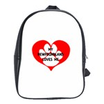 My Newfie Loves Me School Bags (XL)  Front