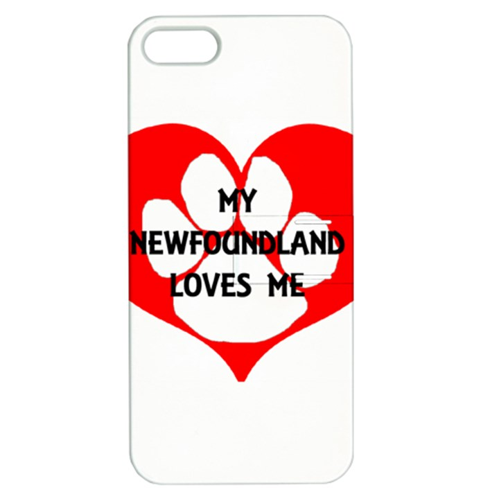 My Newfie Loves Me Apple iPhone 5 Hardshell Case with Stand