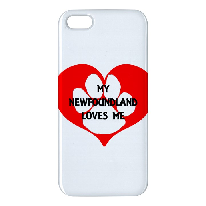 My Newfie Loves Me Apple iPhone 5 Premium Hardshell Case