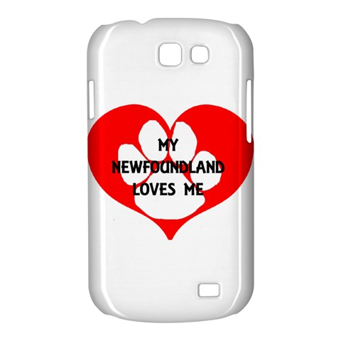 My Newfie Loves Me Samsung Galaxy Express I8730 Hardshell Case