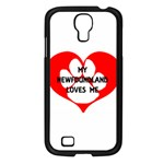 My Newfie Loves Me Samsung Galaxy S4 I9500/ I9505 Case (Black) Front