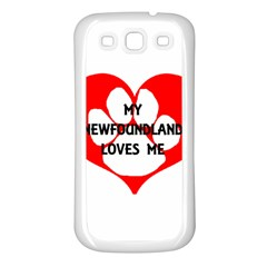 My Newfie Loves Me Samsung Galaxy S3 Back Case (White)