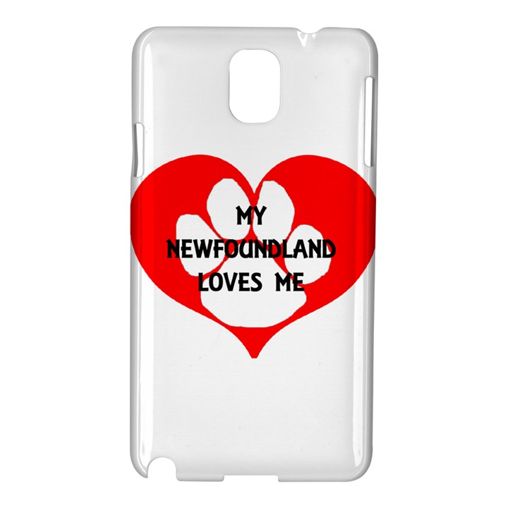 My Newfie Loves Me Samsung Galaxy Note 3 N9005 Hardshell Case