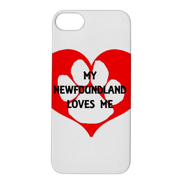 My Newfie Loves Me Apple iPhone 5S/ SE Hardshell Case