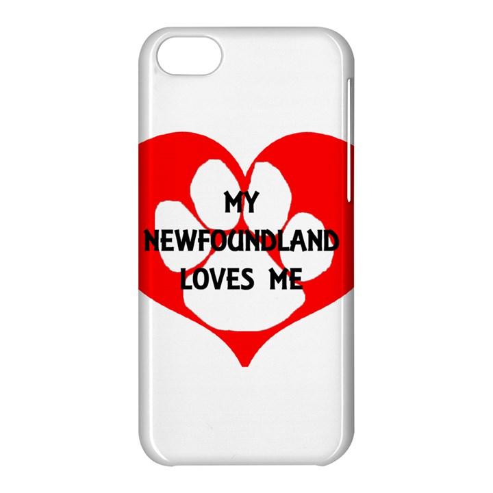 My Newfie Loves Me Apple iPhone 5C Hardshell Case