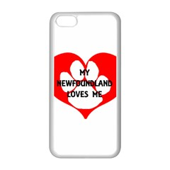 My Newfie Loves Me Apple iPhone 5C Seamless Case (White)