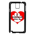 My Newfie Loves Me Samsung Galaxy Note 3 N9005 Case (Black) Front