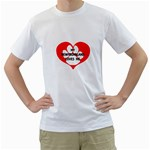 My Newfie Loves Me Men s T-Shirt (White)  Front