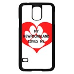 My Newfie Loves Me Samsung Galaxy S5 Case (Black) Front