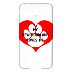 My Newfie Loves Me Samsung Galaxy S5 Back Case (White)