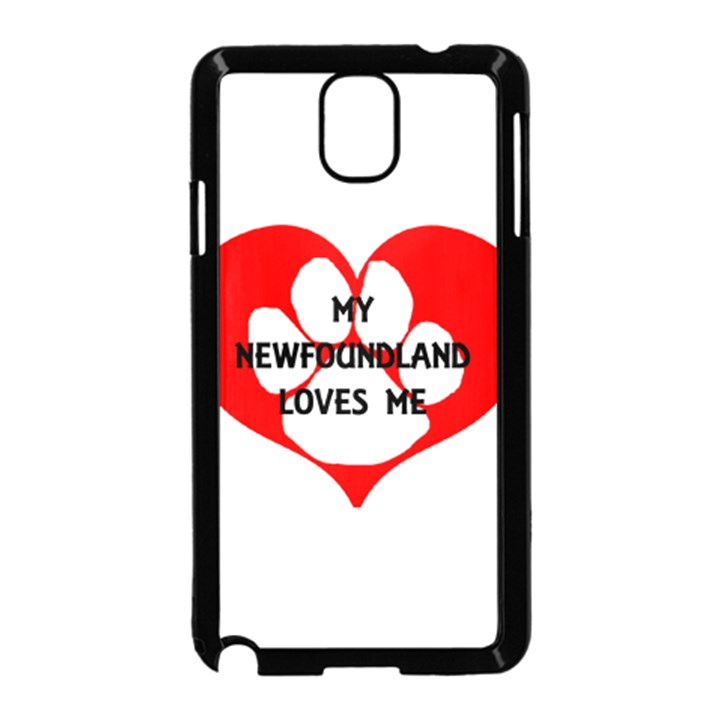 My Newfie Loves Me Samsung Galaxy Note 3 Neo Hardshell Case (Black)