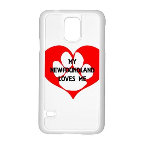My Newfie Loves Me Samsung Galaxy S5 Case (White)
