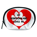 My Newfie Loves Me Accessory Pouches (Medium)  Front