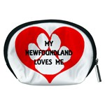 My Newfie Loves Me Accessory Pouches (Medium)  Back