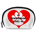 My Newfie Loves Me Accessory Pouches (Large)  Front