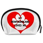 My Newfie Loves Me Accessory Pouches (Large)  Back