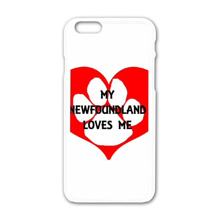 My Newfie Loves Me Apple iPhone 6/6S White Enamel Case