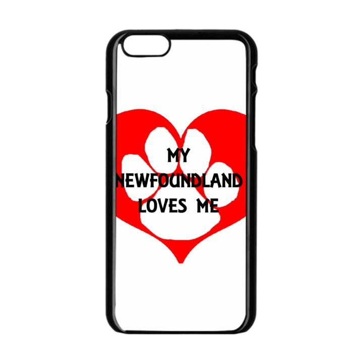 My Newfie Loves Me Apple iPhone 6/6S Black Enamel Case