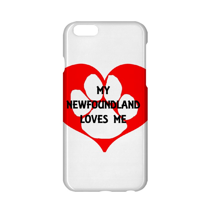 My Newfie Loves Me Apple iPhone 6/6S Hardshell Case