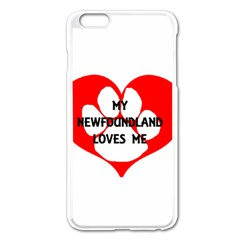 My Newfie Loves Me Apple iPhone 6 Plus/6S Plus Enamel White Case