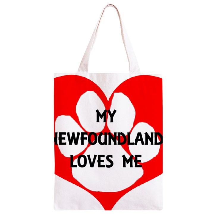 My Newfie Loves Me Classic Light Tote Bag