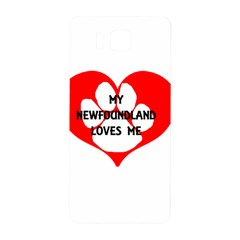 My Newfie Loves Me Samsung Galaxy Alpha Hardshell Back Case