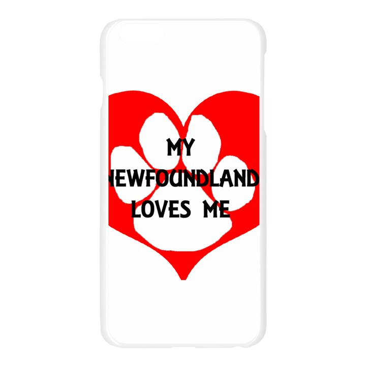My Newfie Loves Me Apple Seamless iPhone 6 Plus/6S Plus Case (Transparent)