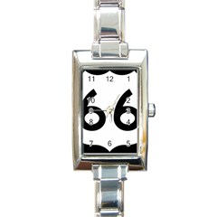 U.S. Route 66 Rectangle Italian Charm Watch
