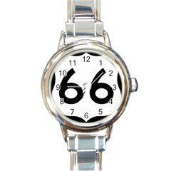 U S  Route 66 Round Italian Charm Watch