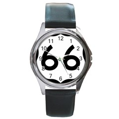 U.S. Route 66 Round Metal Watch
