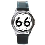 U.S. Route 66 Round Metal Watch Front