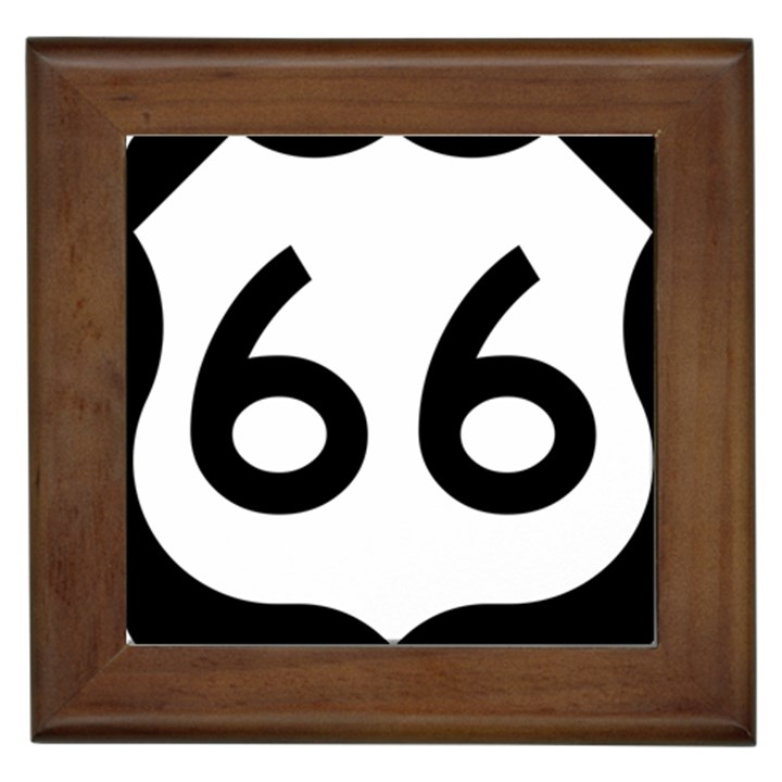 U.S. Route 66 Framed Tiles