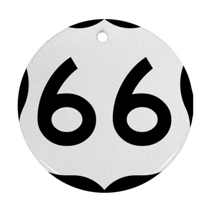 U.S. Route 66 Ornament (Round)