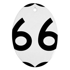 U S  Route 66 Ornament (oval)