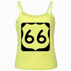 U S  Route 66 Yellow Spaghetti Tank