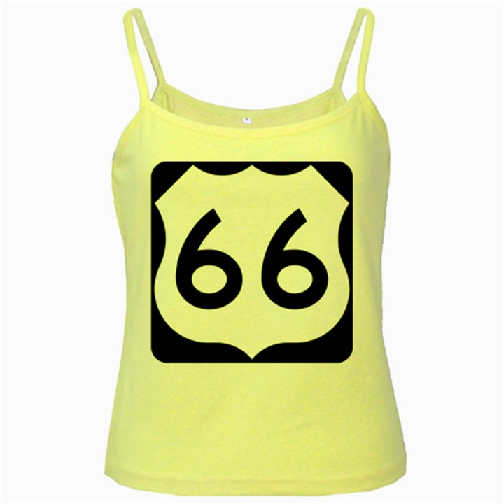 U.S. Route 66 Yellow Spaghetti Tank