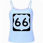 U.S. Route 66 Baby Blue Spaghetti Tank Front