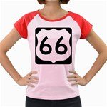 U.S. Route 66 Women s Cap Sleeve T-Shirt Front