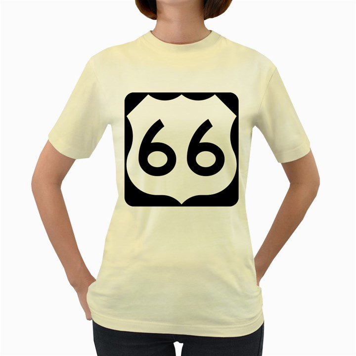U.S. Route 66 Women s Yellow T-Shirt