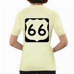U.S. Route 66 Women s Yellow T-Shirt Back